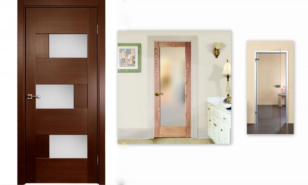 vidaus durys stiklines ir su stiklu