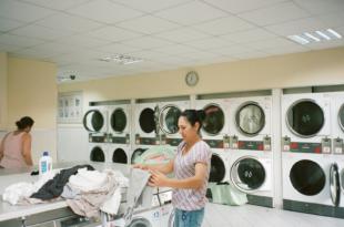 Skalbimo mašinos skalbykloje